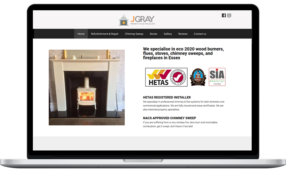 Website design J Gray